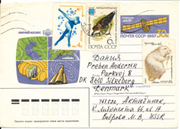 USSR Oprated Postal Stationery Sent To Denmark - Covers & Documents