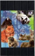 Belarus 2004 .Cats. S/S Of 5v: 300, 500, 500, 800, 800 + Label.  Michel # BL 43 - Bielorussia