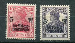 Deutsches Reich -  Mi. 105/106 * - Nuovi