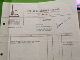 Facture, Ateliers Arthur Graas, Luxembourg - Plaatfouten & Curiosa