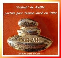 """SUPER PIN'S PARFUMS : Pour PARFUM """"CASBAH"""" De AVON, Pour Femme Lancé En 1992, ZAMAC Or 3D, Format 2,3X1,7cm - Parfum"""