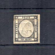 Italia - Regno Delle Due Sicilie - Province Napoletane - 1861 - V.E. II° - 1 Grano - Nero - Usato - (FDC18491) - Neapel