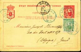 BELGIAN CONGO PS STIBBE 10b FROM LEO.1893 TO GENT - Postwaardestukken