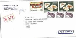 LETTRE. COVER. SENEGAL. MULTIPLE. 760F.  REGISTERED  DAKAR TO FRANCE   / 3 - Senegal (1960-...)