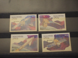 MALDIVES - 1991 SPAZIO 4 VALORI - NUOVI(++) - Maldive (1965-...)