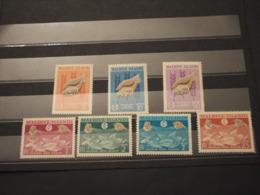 MALDIVES - 1963 FAME/PESCI 7 VALORI - NUOVI(++) - Maldive (1965-...)