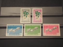 AFGHANISTAN - 1963 AGRICOLTURA/FIORI/FARFALLA 5 VALORI - NUOVI(++) - Afghanistan