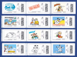 FRANCE ASTERIX 48 étiquettes Autoadhésives Neuves** MonTimbrenligne. Cinéma, Film, Movie. Série1, 2, 3 Et 4. - 2010-... Vignettes Illustrées