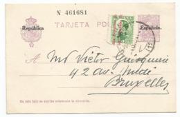 Spain España Postal Stationery Entero Tarjeta Used 1931 Laiz # 61Fk - Enteros Postales