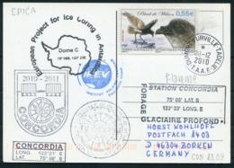 2010 T.A.A.F. French Antarctica Dumont D'Urville Polar Postcard. CONCORDIA - Covers & Documents