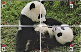 Hong Kong - Set Of 4 Giant Panda WWF Phonecards A - Hongkong