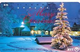 JAPAN Telefonkarte- NTT -111-007 -Weihnachten Merry Christmas - Siehe Scan - Natale