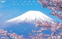 JAPAN Telefonkarte- NTT -111-014 -Mt Fuji - Siehe Scan - Volcans
