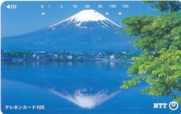 JAPAN Telefonkarte- NTT -111-015 -Mt Fuji - Siehe Scan - Volcanes