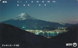 JAPAN Telefonkarte- NTT -111-022 -Mt Fuji - Siehe Scan - Volcans