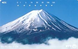 JAPAN Telefonkarte- NTT -111-023 -Mt Fuji - Kleine Nummer- Siehe Scan - Vulkanen