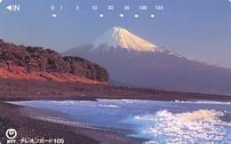 JAPAN Telefonkarte- NTT -111-030 -Mt Fuji - Siehe Scan - Vulkanen