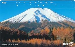 JAPAN Telefonkarte- NTT -111-031 -Mt Fuji - Siehe Scan - Volcans