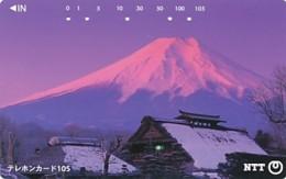 JAPAN Telefonkarte- NTT -111-038 -Mt Fuji - Siehe Scan - Volcans