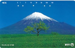 JAPAN Telefonkarte- NTT -111-057 -Mt Fuji - Siehe Scan - Volcans