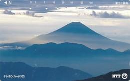 JAPAN Telefonkarte- NTT -111-063 -Mt Fuji - Siehe Scan - Vulkanen
