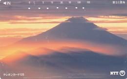 JAPAN Telefonkarte- NTT -111-075 -Mt Fuji - Siehe Scan - Volcans