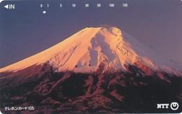 JAPAN Telefonkarte- NTT -111-080 -Mt Fuji - Siehe Scan - Vulkanen