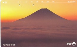 JAPAN Telefonkarte- NTT -111-082 -Mt Fuji - Siehe Scan - Volcans