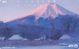 JAPAN Telefonkarte- NTT -111-084 -Mt Fuji - Siehe Scan - Volcanes