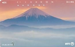 JAPAN Telefonkarte- NTT -111-091 -Mt Fuji - Siehe Scan - Volcans