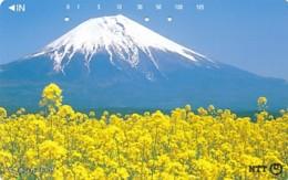 JAPAN Telefonkarte- NTT -111-093 -Mt Fuji - Siehe Scan - Vulkanen