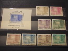 AFGHANISTAN - 1962 ONU 8 VALORI + BF - NUOVI(++) - Afghanistan
