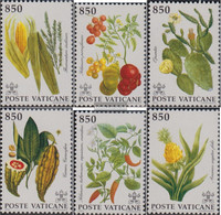 Vatikanstadt 1064-1069 (complete Issue) Unmounted Mint / Never Hinged 1992 Plants Out America - Unused Stamps