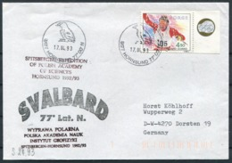 1993 Norway Spitsbergen Hornsund Arctic Polish Expedition Polar Cover. - Norvegia