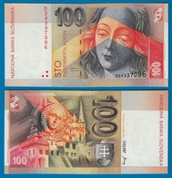 SLOWAKEI - SLOVAKIA 100 Korun Banknoten (1993) Pick 22a UNC (1)  (18121 - Slowakije