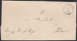 Preussen Brief 1864 BITTERFELD K2 - DÜBEN Mit Inhalt   (25623 - Postzegels