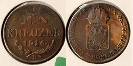 Österreich - Austria 1 Kreuzer 1816 B In Fast Sehr Schöner Erhaltung  (r727 - Austria