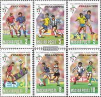Hungary 4087A-4092A (complete Issue) Unmounted Mint / Never Hinged 1990 Football-WM In Italy - Hungary