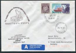 1997 Norway Spitsbergen Hornsund Arctic Polish Expedition Polar Bear Cover. Signed - Norvegia