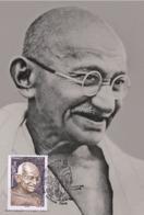 France 2019 - Mahatma Gandhi 1869 - 1948 Maximum Card - Cruz Roja