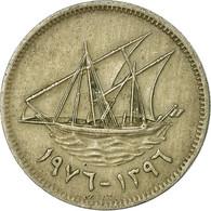Monnaie, Kuwait, Jabir Ibn Ahmad, 20 Fils, 1976/AH1396, TTB, Copper-nickel - Koweït
