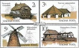 Ungarn 4028A-4031A (kompl.Ausg.) Postfrisch 1989 Alte Mühlen - Ungebraucht