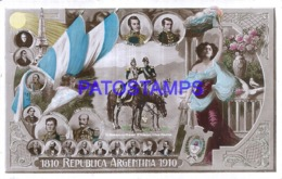 124429 ARGENTINA ART PATRIOTIC CENTENARIO & FLAG POSTAL POSTCARD - Argentinien