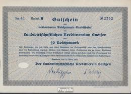 Deutsches Reich 10 Reichsmark, Gutschein Sehr Schön 1934 Landwirts. Kreditverein Sachsen - Ohne Zuordnung