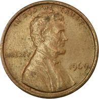 Monnaie, États-Unis, Lincoln Cent, Cent, 1969, U.S. Mint, Denver, TTB, Laiton - 1959-…: Lincoln, Memorial Reverse