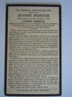 Doodsprentje Jeanne Indekeu Meeuwen 1885 Maastricht 1929 Echtg Joseph Smeets - Images Religieuses