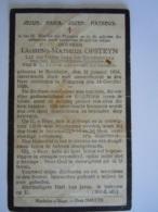 Doodsprentje Laurens Matheus Opsteyn Reckheim 1854 Tongeren 1929 Lid Derde Orde Prentje Vuil En Beschadigd - Images Religieuses