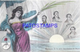 124458 ARGENTINA ART PATRIOTIC HERALDRY & FLAG CENTENARIO CIRCULATED TO GERMANY POSTAL POSTCARD - Argentinien