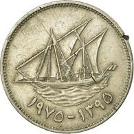 Monnaie, Kuwait, Jabir Ibn Ahmad, 50 Fils, 1975/AH1395, TB+, Copper-nickel - Koweït