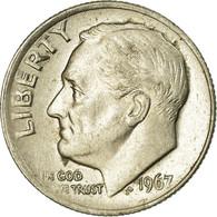 Monnaie, États-Unis, Roosevelt Dime, Dime, 1967, U.S. Mint, Philadelphie, TTB - Federal Issues